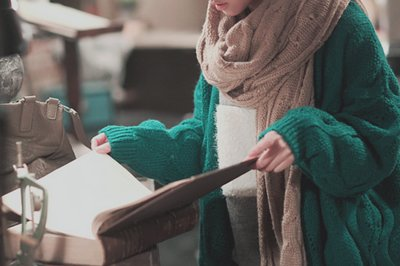 adorable, asian, book, cardigan, cold