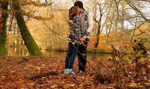 adorable, autumn, beautiful, boy, couple