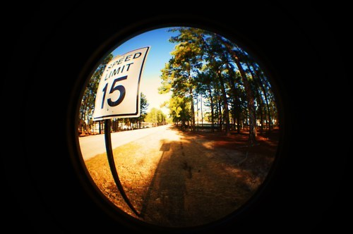 adorable, colors, cute, fisheye, limits, lovely, nice, photography, pretty, retro, simple, slow, slow down, sony a35, speed sign, stop, sweet