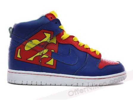 air force, nike, nike dunk, sneakers, superman