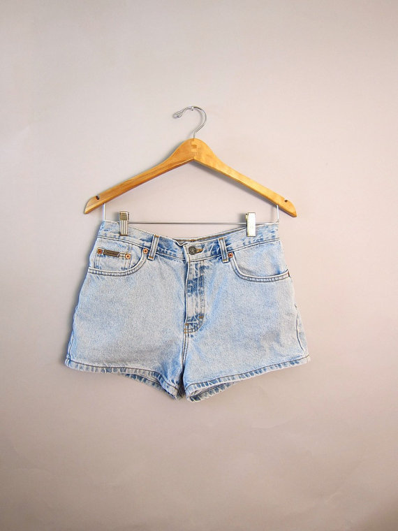 alexa chung, calvin klein, denim, denim short, fashion