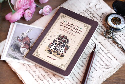 alice in wonderland, book, cute, letter, pink