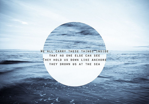all, anchors, art, beautiful, bring me the horizon, circle, cool, everyone, hipster, indie, inside, lyrics, ocean, photo, photography, quote, sea, text, typography, water, words