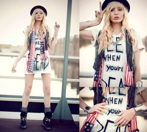 alternative, alternative girl, america, blonde hair, style