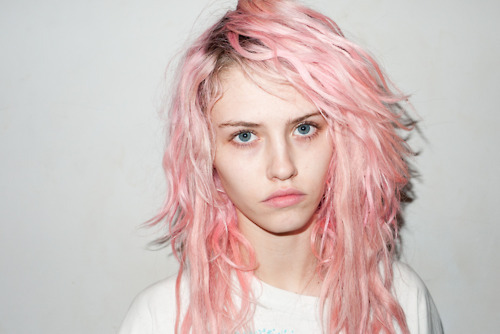 alternative, beautiful, blue eyes, charlotte free, eyes, gorgeous, hair, hair style, lovely, model, perfect, photography, pink, pink hair, pretty, style, terry richardson