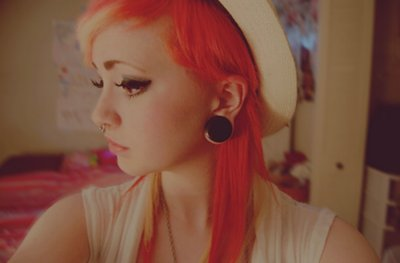 alternative, beautiful, cute, gauges, girl