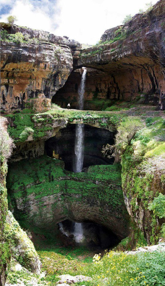 amazing, baatara gorge waterfall, lebanon, nature, travel