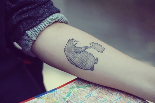 amazing, bear, beautiful, cute, lovely, tatoo, tattoo