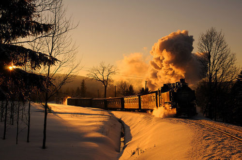 amazing, beautiful, cool, nature, smoke, snow, sun, sunset
