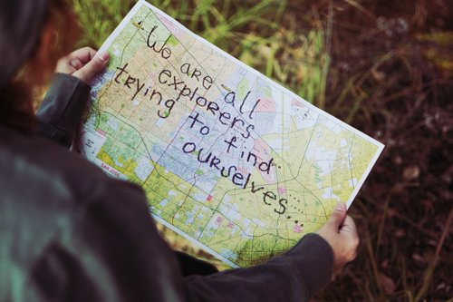 amazing, beautiful, explorers, life, map, message, quote, text