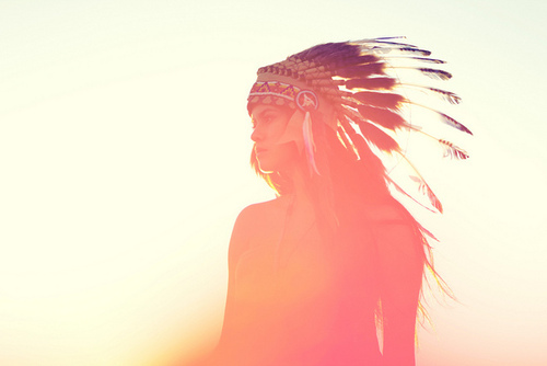american indian, awesome, childhood, girl, hat, hipster, indian, pretty, red indians, shine, sun