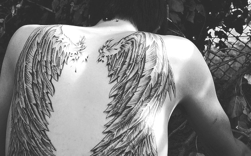 angel wings, fallen angel, tattoo