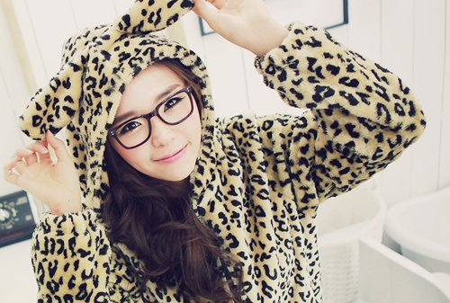 animal print, asian, cute, fashion, girl