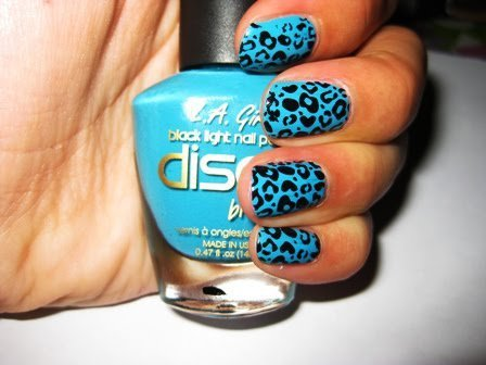 animal print, blue, fashion, girl, ivaa stojcic, nail polish, nails, photography