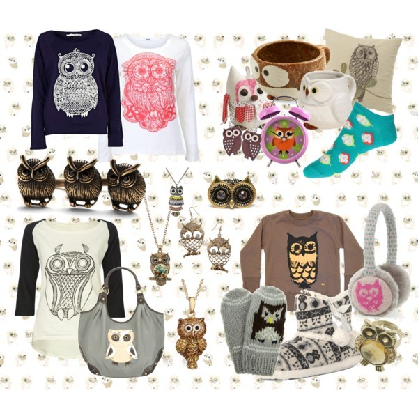 animals, design, fashion, my design, my outfit, my set, outfit, owl, polyvore, shirt