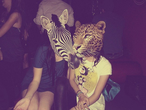animals, girls, party