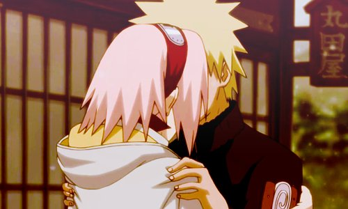 anime, cute, kiss, narusaku, naruto
