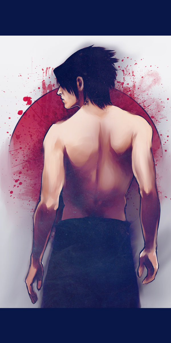anime, fanart, naruto, naruto shippuden, sasuke