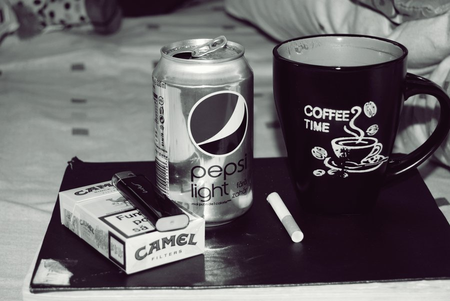 anorexia, cigarette, cigarettes, coffee, diet coke, eating disoder, skinny, thin, thinspiration