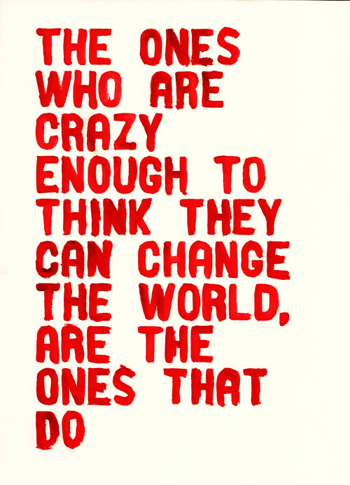 apple, change the world, quote, red, steve jobs
