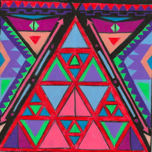 art, aztec, aztec print, hipster, triangle
