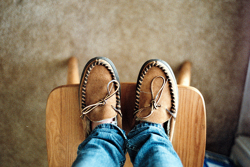 art, beautiful, brown, chair, cool, hipster, indie, moccasins, photo, photography, shoes