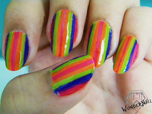 art, beauty, colorful, design, fun, girly, nail, nail art, nails, stripes