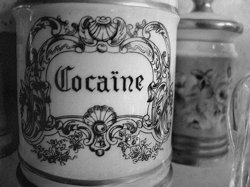 art, black and white, cocaine, cute, drugs, vintage