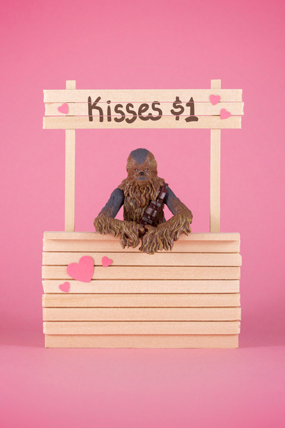 art, chewbaca, expensive, gold, kiss, old, pink, star wars