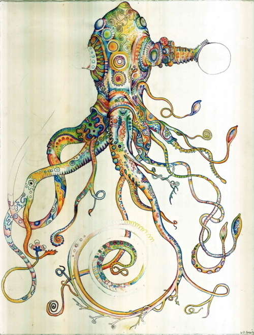 Art color drawing illustration squid image 349825 for Colorful octopus painting