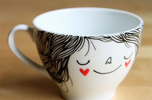 art, cup, cute, hearts, sweet