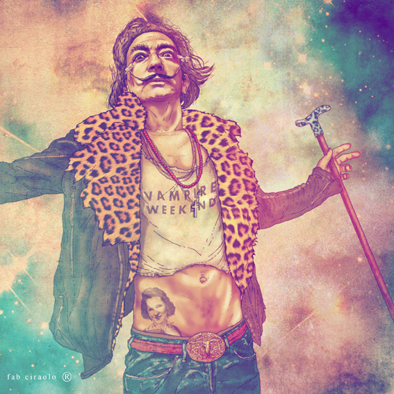 art, dali, design, drawing, fab ciraolo