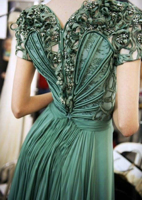 Art Nouveau Dress Green Pretty Seafoam Image 348608
