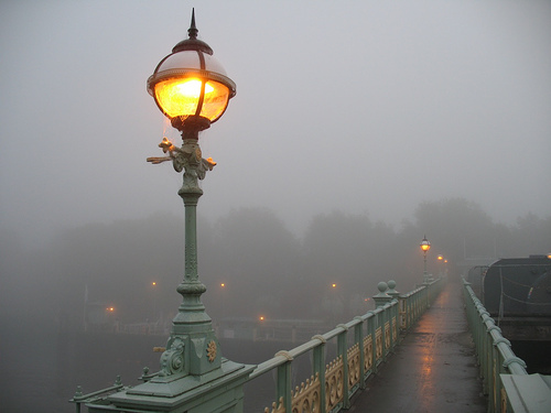 arthur conan doyle, foggy, lanterns, london