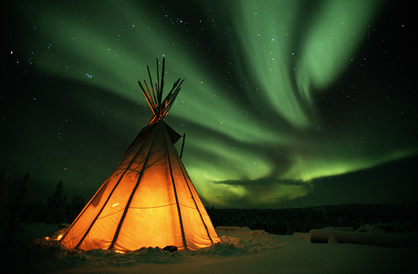 aurora, beautiful, native american, tipi