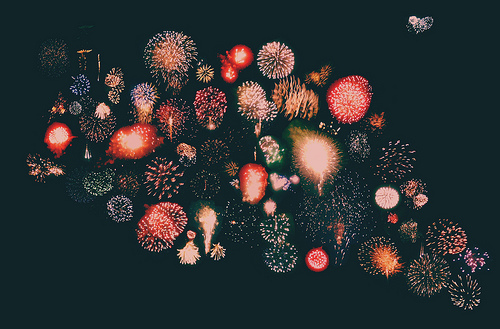 awesome, collage, colors, colours, cool, festive, fireworks, holidays, loner, new years, pretty, sky, together, yay
