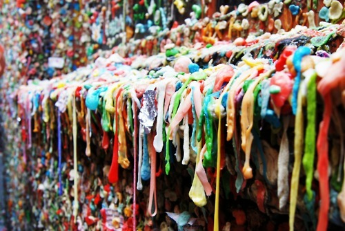awesome, colors, gross, gum, gum wall