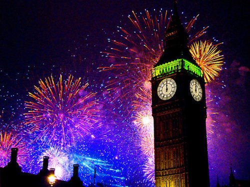 awsome, beautiful, big ben, blue, british, cielo, city, cool, england, fireworks, fuegos artificiales, green, inglaterra, lights, london, londres, luces, lucy, new year, night, noche, photo, photography, pink, pretty, sky
