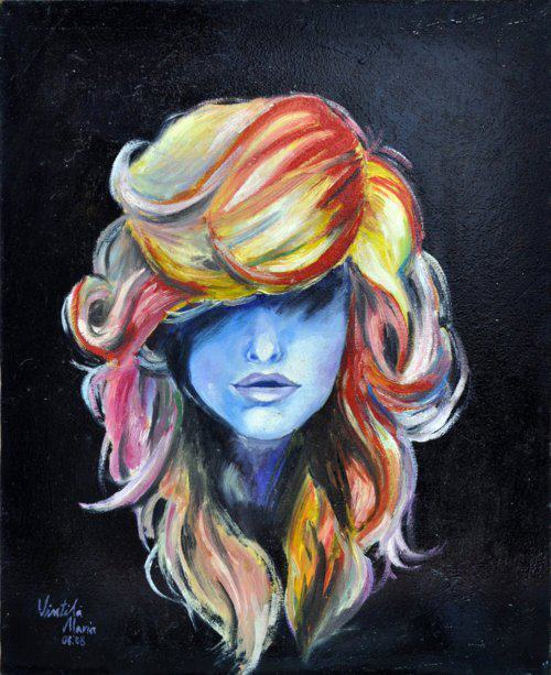 awsome, color, colorful, cute, draw, girl, paint, inspirations, photography, hair, woman, inspiration