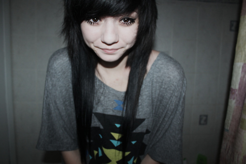 aztec, baby face, cute, scene girl, shirt
