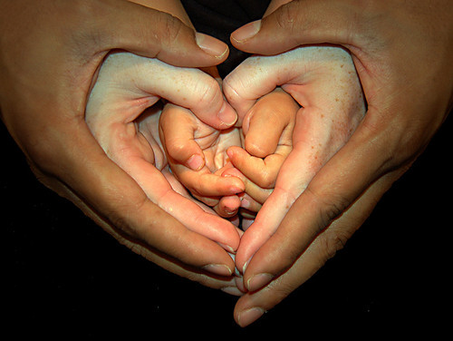 baby, family, hands, heart, life