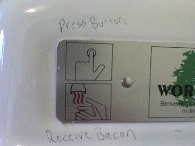 bacon, food, funny, lol, press button