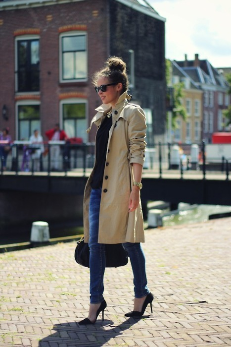 bag, beautiful, beauty, black, coat, fashion, girl, jeans, mode, nice, photography, pretty, shoes, street style, style, sunglasses