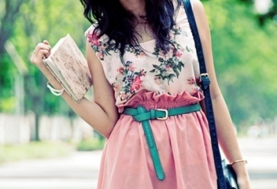 bag, belt, book, diary, dress