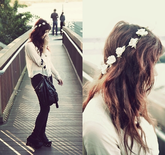 bag, cute, fashion, flowers, girl