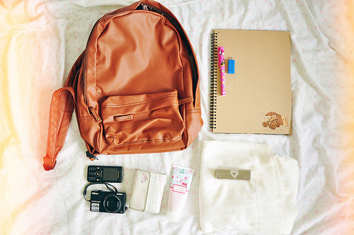 bagpack, camera, cellphone, cool, heart