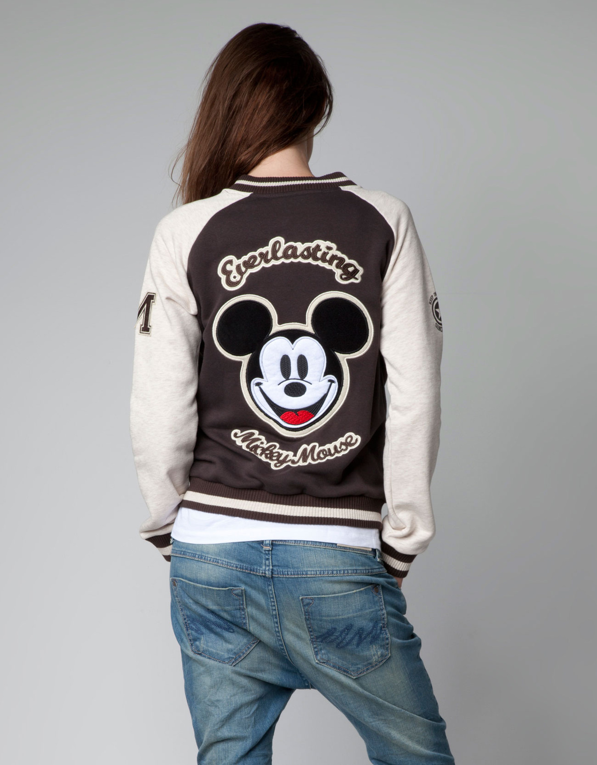 baseball jacket, bershka, fashion, jacket, mickey