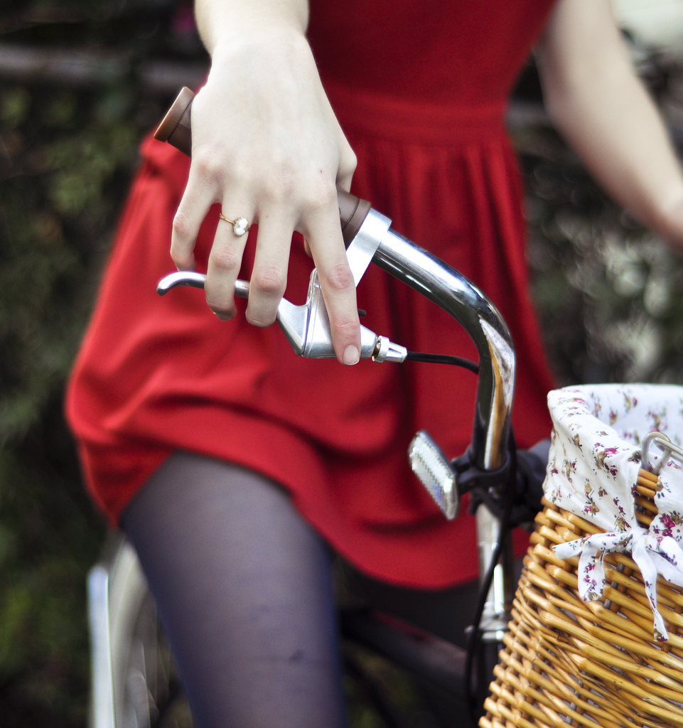 basket, bicycle, bike, girl, hannah ruby