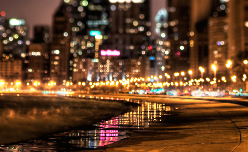 beach, beautiful, city, lights, miami