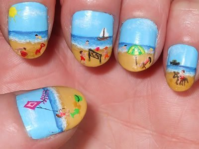 beach, blue, cute, fashion, girl, ivaa stojcic, nail polish, nails, photography, summer, sweet
